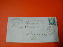 D223 / LOT NAPOLEON N° 14 SUR LETTRE - 1853-1860 Napoléon III.