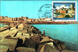 22814) ITALIA-CARTOLINA MAXMUM 600 LIRE TERMOLI-Turismo - 12ª Emissione - 1 Giugno 1985 - 6. 1946-.. Republic