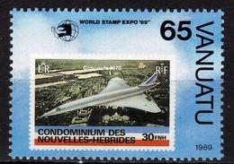 """VANUATU N° 837 XX  """"World Stamp Expo'89"""", Expo. Philatélique Mondiale à Washington Sans Charnière,TB - Vanuatu (1980-...)"""