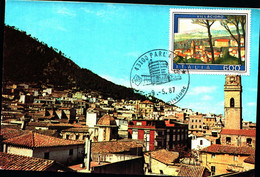 22815) ITALIA-CARTOLINA MAXMUM 600 LIRE VILLACIDRO- Turismo - 14ª Emissione - 9 Maggio 1987 - 6. 1946-.. Republic