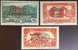 Syria 1945 El-Maari Millenary 3 Values MNH - Siria