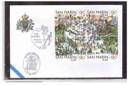"""FDC5705  -  SAN MARINO  1.2.2006    /   FDC  """"TORINO 2006 """" - 20° GIOCHI OLIMPICI INVERNALI - FDC"""