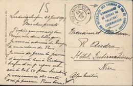 Commission Interalliée Chemins De Fer De Campagne S/ Commission Réseau Du Palatinat Ludwigshafen Trésor Et Postes 1919 - Zona Francese