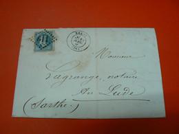 D224 / LOT NAPOLEON N° 29 SUR LETTRE - 1863-1870 Napoléon III. Laure