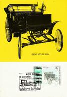 ANDORRE ESPAGNOL CARTE MAXIMUM 1992 VOITURE BENZ - Covers & Documents