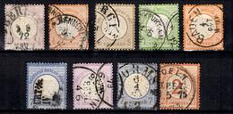 Allemagne/Reich YT N° 1, N° 3, N° 6, N° 7, N° 8, N° 10, N° 13, N° 23 Et N° 28 Oblitérés. B/TB. A Saisir! - Usati