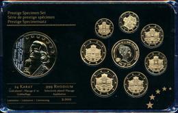 Prestigesatz Monaco 24 Karat Vergoldet Mit Medaille - Vaticano