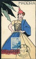 59907 Portugal, Maximum 1941 Costume Of Madeira, Postmark Funchal 31.dez 41, - Tarjetas – Máximo
