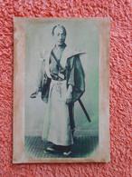 Photo Avant Ou Début 1900 Samourai Japan Japon - Old (before 1900)