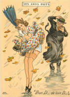 """BARRE & DAYEZ - LES GROS MOTS """"Bon D... De Bon D..."""" - Carte érotique - Andere Zeichner"""