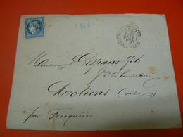 D225 / LOT CERES N° 60 SUR LETTRE - 1871-1875 Ceres