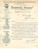 Facture 1913 / 93 AUBERVILLIERS / PARIS BEAUVAIS / QUERVEL / Raffinerie Huiles Et Graisses - 1900 – 1949