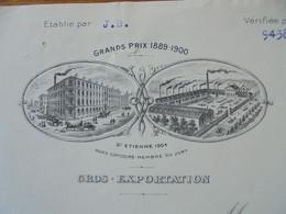 FACTURE - 42 - DEPARTEMENT DE LA LOIRE - SAINT ETIENNE  1907 - MANUFACTURES D'ARMES : J. GAUCHER - Francia