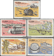 Cuba 1046-1050 (complete Issue) Unmounted Mint / Never Hinged 1965 Revolutionsmuseum - Nuevos