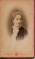 11625 -1 PHOTO ALBUMINEE  Format   C.V 1883 -  Signora BALDINI  - Photo. MONTABONE Di G.BORELLI - ROMA -  7 Juillet 1883 - Antiche (ante 1900)