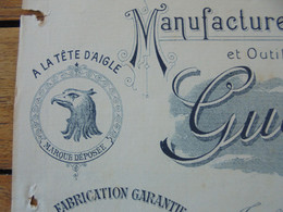 FACTURE - 42 - DEPARTEMENT DE LA LOIRE - TRABLAINE PRES LE CHAMBON-FUGEROLLES 1907 - LIMES, RAPES : GUERIN FILS - Francia