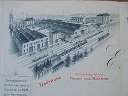 FACTURE - 42 - DEPARTEMENT DE LA LOIRE - ROANNE 1903 - EXPLOITATION GENERALE DE CHIFFONS : E. FAYET AINE - Francia
