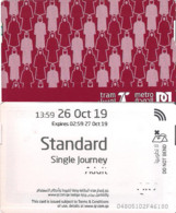"Qatar Metro/Subway Train/Tram Ticket, Standard Single Journey For An ""ADULT"" - World"