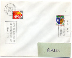 GIRONDE - Dépt N° 33 = BEGLES 1965 = FLAMME SECAP  ' 1945 / 20e ANNIVERSAIRE / SECURITE SOCIALE ' - Mechanical Postmarks (Advertisement)