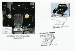 ANDORRE ESPAGNOL CARTE MAXIMUM 2004 VOITURE SIMCA 508-C - Cartas