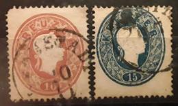 OSTERREICH AUSTRIA AUTRICHE 1861, Franz Josef I, 2 Timbres Yvert No 20 & 21 Obl - Usati