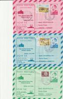 TURQUIE - 3 AEROGRAMMES : Hava Mektubu / Uçak Ile - Visite Du Pape Jean-Paul II Le 28-29-30/11/1979. - Interi Postali