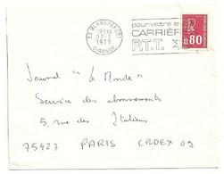 GIRONDE - Dépt N° 33 = BLANQUEFORT 1975 =  FLAMME à DROITE = SECAP ' CARRIERES PTT / Pour Votre Avenir ' - Mechanical Postmarks (Advertisement)
