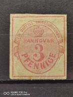 Hannover Mi-Nr. 13 A Ungebraucht Mit Gummi Leicht Fleckig - Hannover