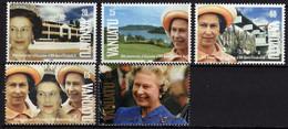 VANUATU N° 878 / 82 XX 40è Anniversaire De L'accession Au Trône De S. M. Elisabeth II, Les 4 Valeurs Sans Charnière, TB - Vanuatu (1980-...)