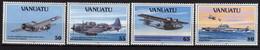 VANUATU N° 883 / 86 XX Les Nlles Hébrides Pendant La 2ème Guerre Mondiale Les 4 Valeurs Sans Charnière, TB - Vanuatu (1980-...)