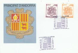 ANDORRE ESPAGNOL CARTE MAXIMUM 2002 ARMOIRIES - Cartas