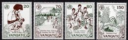 VANUATU N° 895 / 98 XX Journée Mondiale De L'alimentation Les 4 Valeurs Sans Charnière, TB - Vanuatu (1980-...)