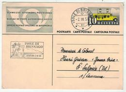 Suisse // Schweiz // Switzerland // Entier Postaux  // 1950 //  Entier Postal  Brissago  S316 - Ganzsachen