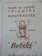 """FACTURE - 42 - DEPARTEMENT DE LA LOIRE - SAINT-CHAMOND 1943 - FABRIQUE DE BONNETERIES """"BOBEBE"""" : CHARLES FLEURY - Francia"""