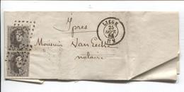 REF2131/ TP 14 (2) S/LAC Du Notaire Aerts LPTS 217 + C.Liège 25/9/65 > Ypres C.d'arrivée > Notaire Van Eecke - Postmarks - Points