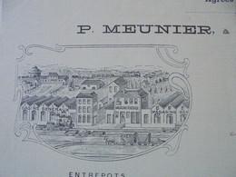 FACTURE - 42 - DEPARTEMENT DE LA LOIRE - ST ETIENNE 1905 - DOCKS, MAGASINS GENERAUX DE ST ETIENNE : P. MEUNIER - Francia