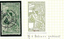 """SUISSE Variétés UPU 1900: Le ZNr. 77C.2.06, """"Cadre Hachuré"""", Obl. CAD - Plaatfouten"""