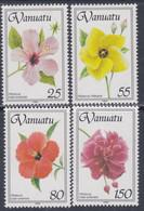 VANUATU N° 903 / 06 XX  Flore : Les Ibiscus, Les 4 Valeurs Sans Charnière, TB - Vanuatu (1980-...)