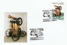 ANDORRE ESPAGNOL CARTE MAXIMUM 2002 VOITURE PINETTE MINIM - Covers & Documents