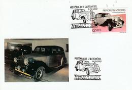 ANDORRE ESPAGNOL CARTE MAXIMUM 2002 VOITURE ROLLS ROYCE SILVER WRAITH - Covers & Documents