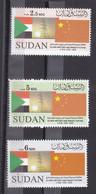 Stamps SUDAN 2009 SC-617 619 DIPLOMATIC W CHINA 50TH ANNIV MNH SET CV$17 # 43 - Soedan (1954-...)