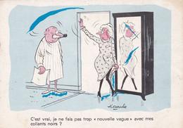 """Humour : C'est Vrai, Je Ne Fais Pas Trop """" Nouvelle Vague """"...... : Illustrateur ALEXANDRE : Couple : - Humor"""