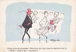 Humour : Allons, Plus De Souplesse !  Montrons Leur Que ...... : Illustrateur ALEXANDRE : Couple De Danseurs : C.p.s.m. - Humor