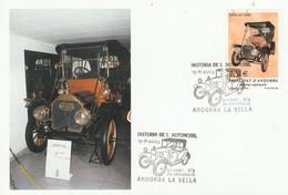 ANDORRE ESPAGNOL CARTE MAXIMUM 2003 VOITURE CARTER - Covers & Documents