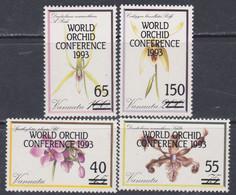 VANUATU N° 907 / 10 XX  XIVè Conférence Mondiale Sur Les Orchidées, Les 4 Valeurs Sans Charnière, TB - Vanuatu (1980-...)