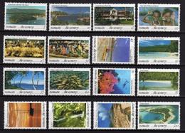 VANUATU N° 915 / 30 XX Série Courante : Paysages De Vanuatu, Les 16 Valeurs Sans Charnière, TB - Vanuatu (1980-...)