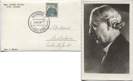 Tschechoslowakei Hlinka-Portraitkarte #401 Sonderstempel Ruzomberok > Bratislava - Storia Postale