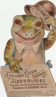 Grenouille Decoupi Publicitaire Pour La Chicoree Alph Se Humez Cambrai Nord . 9 X 5 Cm Environ - Animals