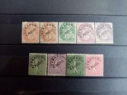 FRANCE.1922 à 1947.  9 Préoblitérés Gommes Altérées N°39 à 49. Côte YT 2020 : 19,70 € - 1893-1947