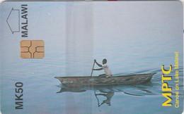 MALAWI : 01 MK50 Canoe On Lake Malawi (in Blister) MINT - Malawi